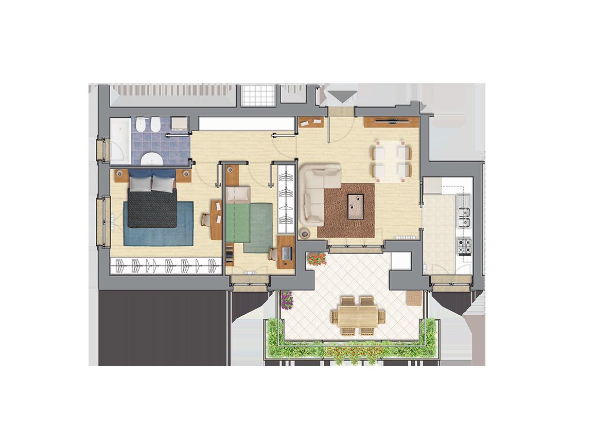Appartamento vendita a Settebagni | Classe energetica B | €236.000
