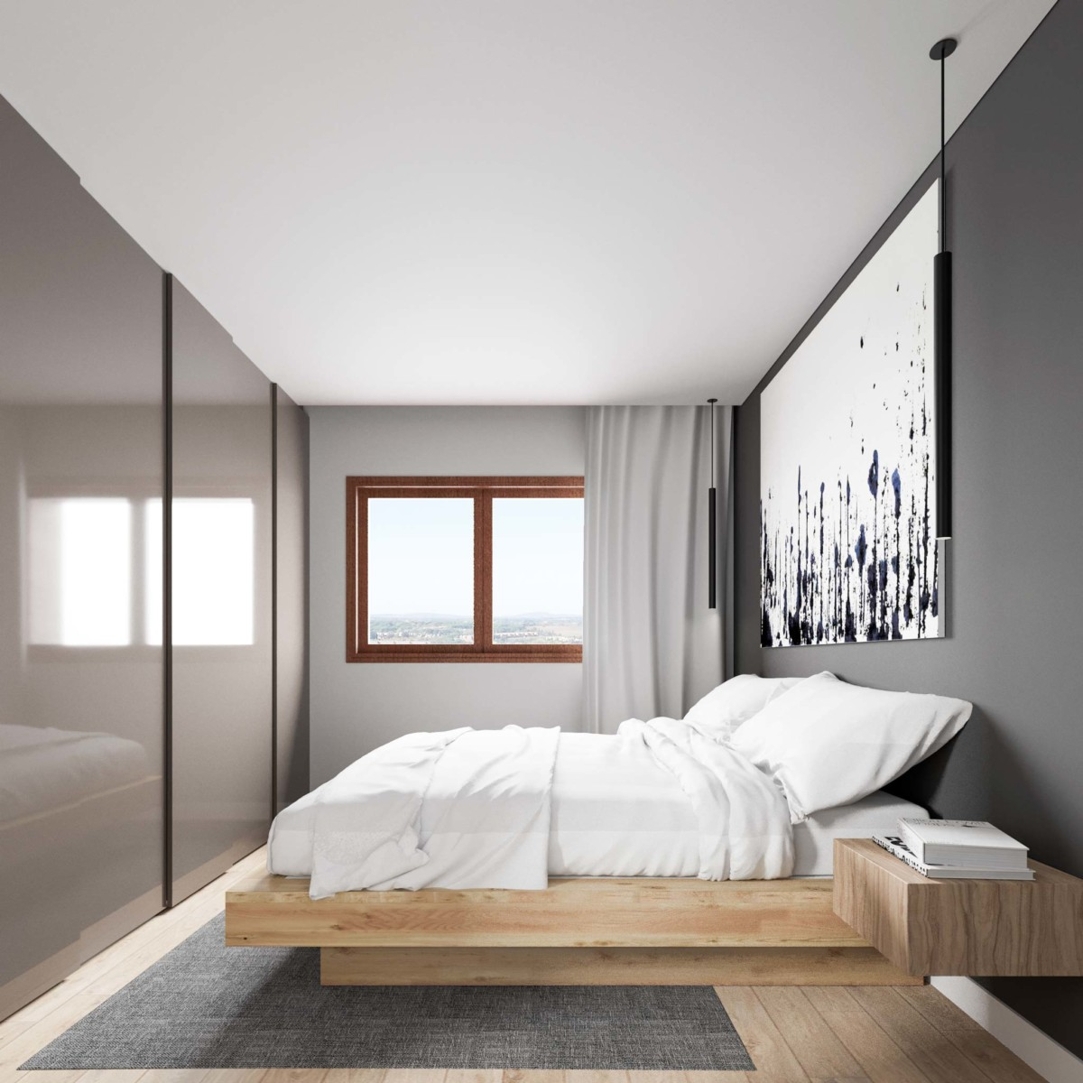 le pareti della camera da letto